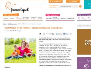 Comment être maman entrepreneure heureuse – www.femmexpat.com