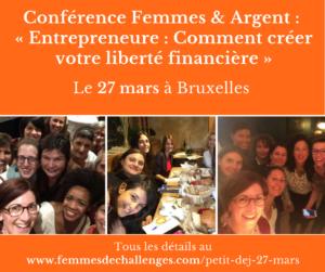 Mardi 27 mars, parlons argent ensemble à Bruxelles